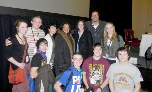 Ryan Bomberger & Alveda King with students from SFLA conference