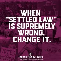 """Settled Law"" by The Radiance Foundation"