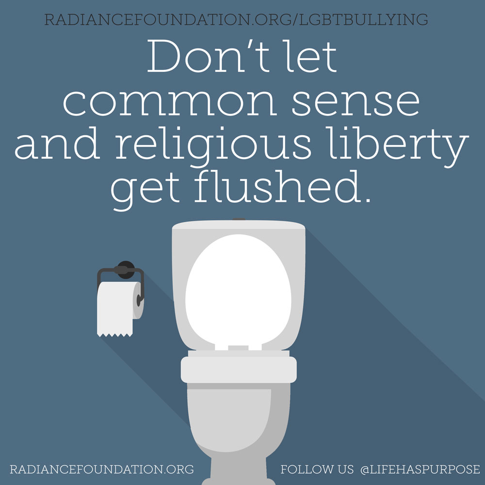 Religious Liberty gets flushed. #LGBT bullying.